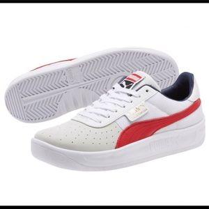 NWOB Puma Cali Casual WHT/RED Women's Sz 9.5 Shoes